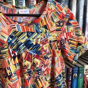LuLaRoe Dresses - LuLaRoe Yellow Orange Geometric Print Carly Dress